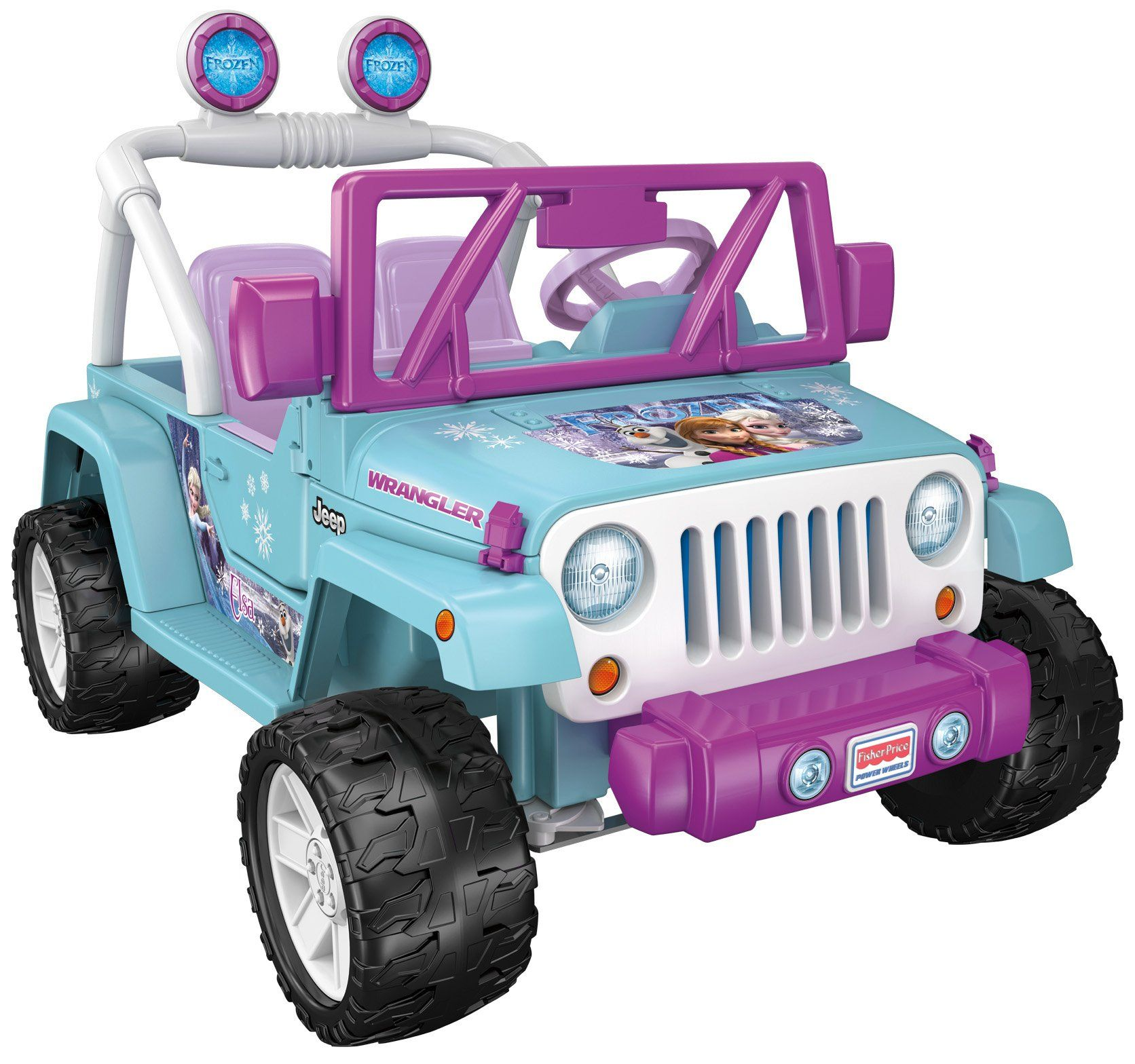 Fisher Price Disney Frozen Jeep Wrangler Ride On Power Wheels