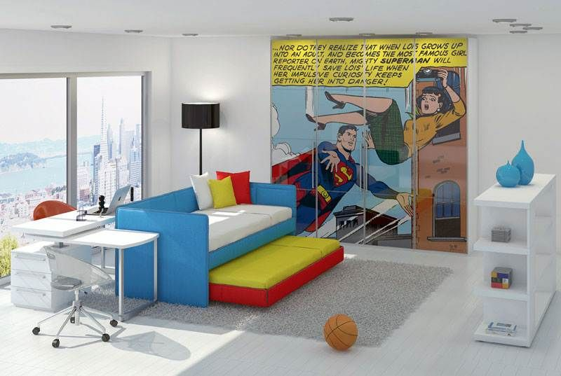 Modern Kids Rooms the couch colors for the bed spead | superheroes room | pinterest