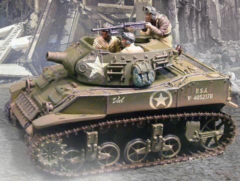 World War II Armored Divisions CS00383 U S  M8 Stuart