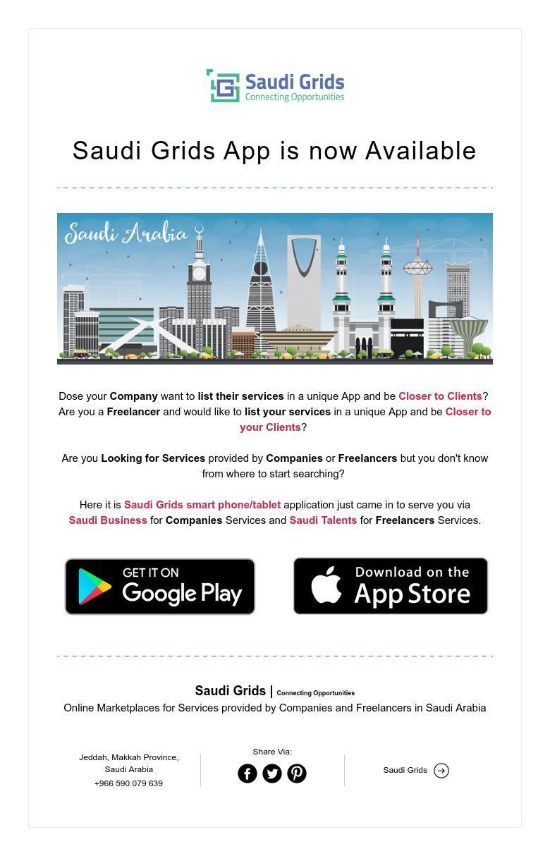 Saudi Grids App Is Now Available Grid App Grid App