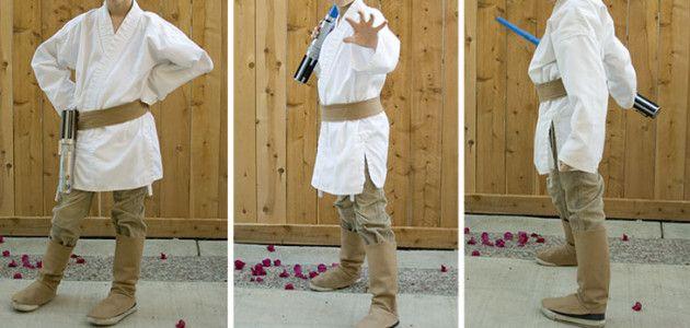 Disfraces caseros de starwars para ni os luke skywalker for Disfraces caseros adultos