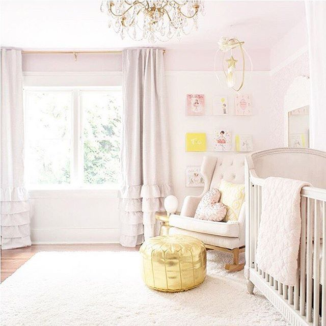 Girly Pink Nursery Decor: Pink And Gold Baby Girl Nursery