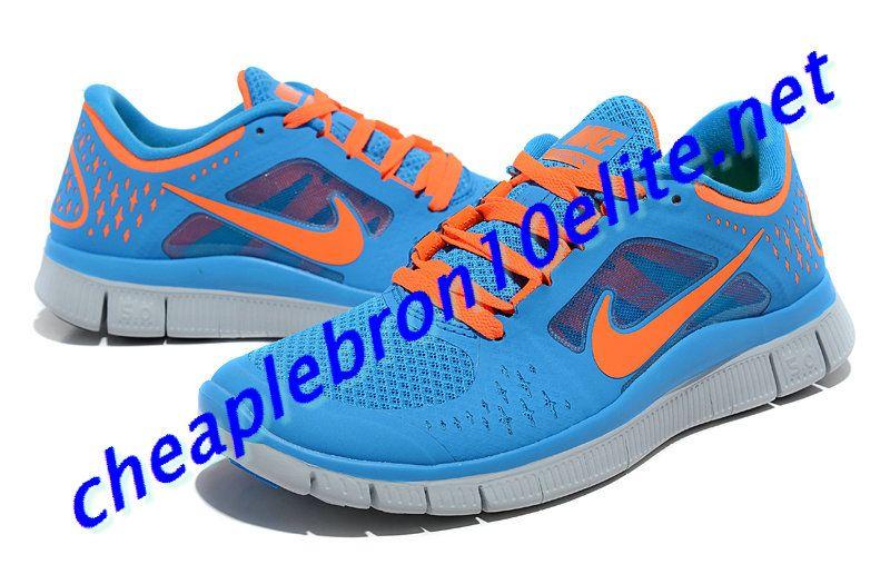 check out 37846 f9945 Pink Blue Nike Free Run 3 Womens Orange 510643 402