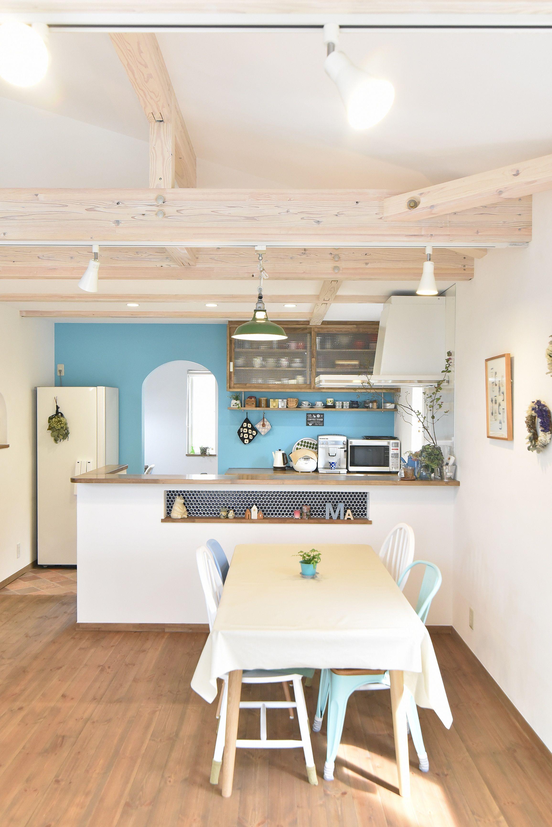 ダイニング・キッチン・アーチ垂れ壁・パントリー|インテリア実例 #BinO #WAVE