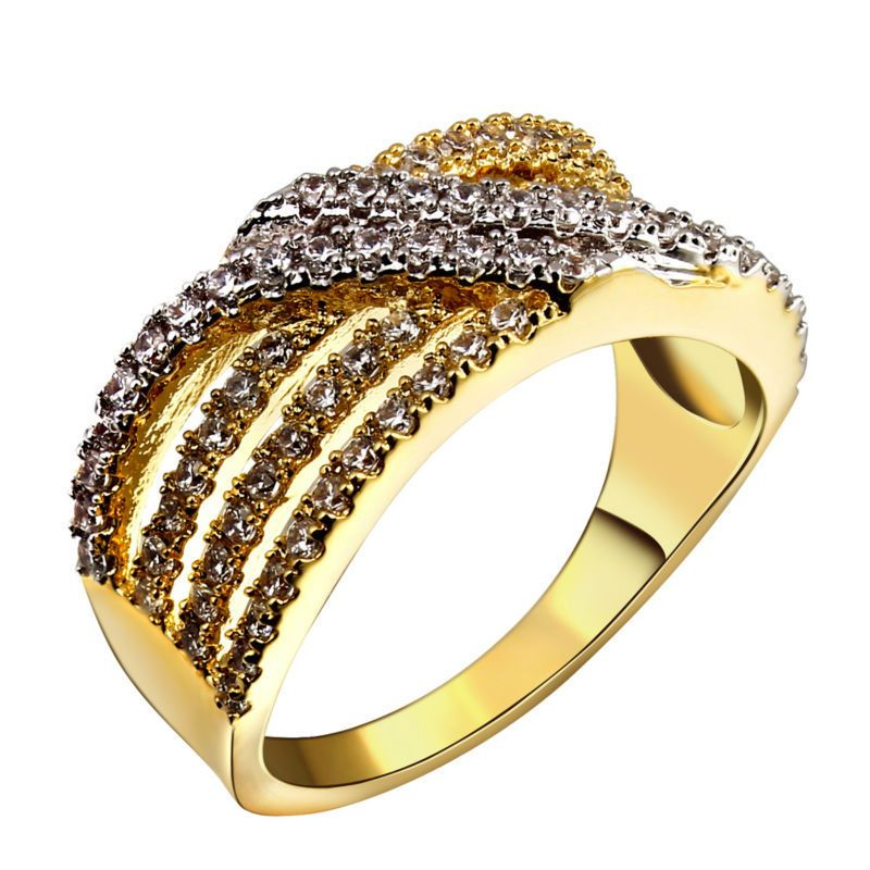 Find More Rings Information about Latest Designed 2 Tones Women ...