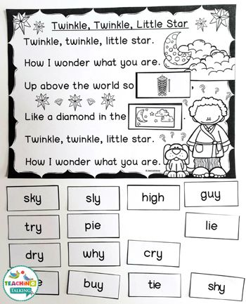 Nursery Rhymes Activities For Twinkle Twinkle Little Star