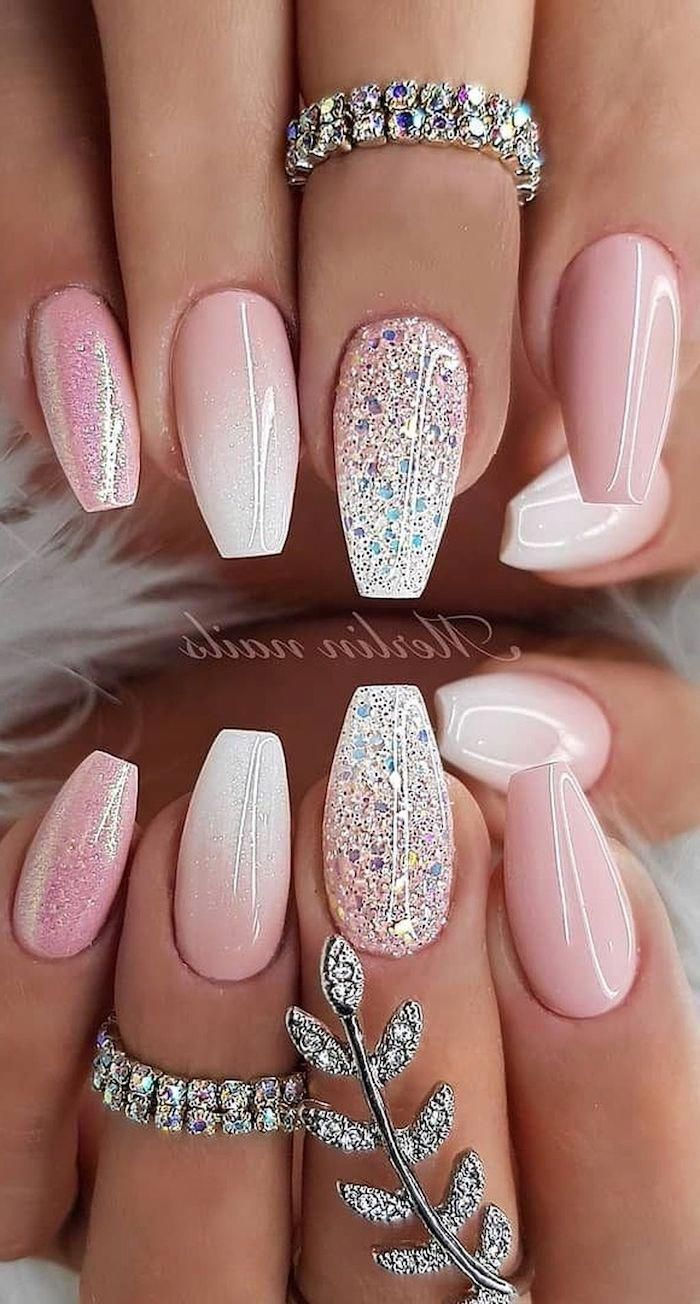 Varnish Colors For Spring 2019 In 2020 Pink Glitter Nails Cute Summer Nails Cute Summer Nail Designs