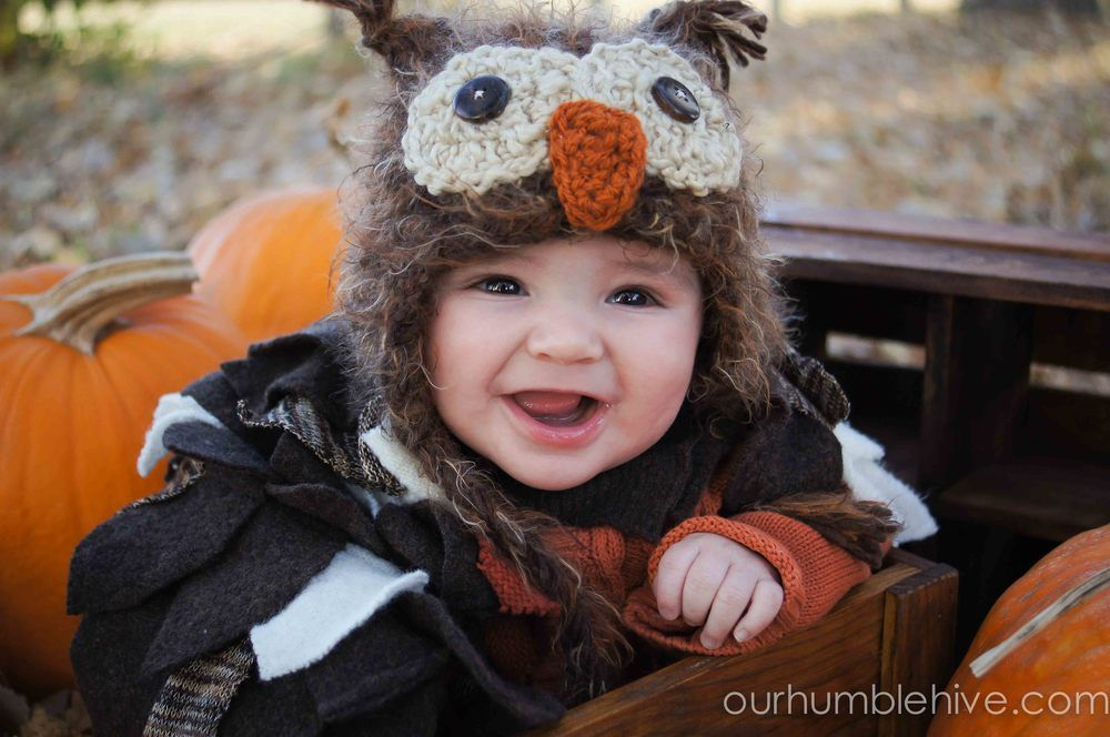 Owl Costume | Baby Costume | Fall Baby Photo | Simple Costume | Halloween Costume | Our Humble Hive