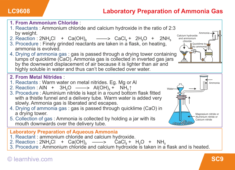 how to make ammonia gas