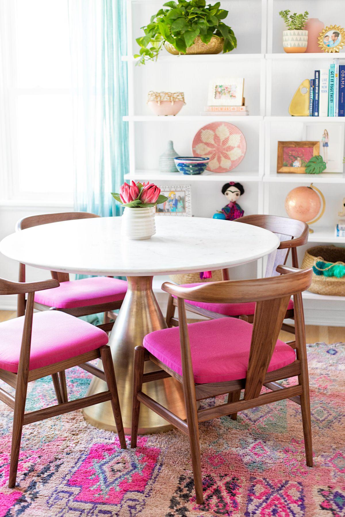 Küche interieur farbschemata  runde speisetische für jedes budget  diy portal  pinterest