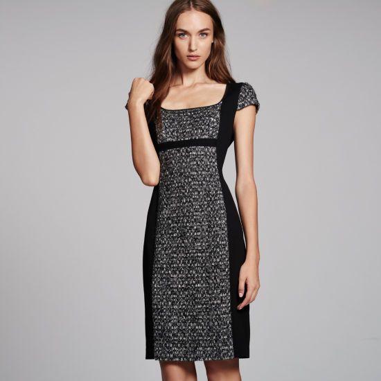 Jayna Knit Panel Dress - Day Dresses at Club Monaco
