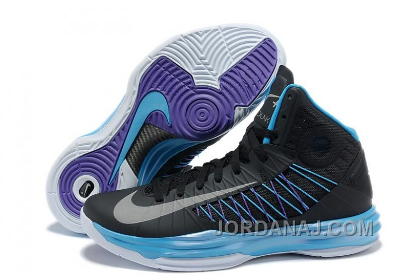 hot sale online de09d 34fec Men s Nike Lunar Hyperdunk 2013 Sport Pack Black Metallic Silver Blue Glow  Outlet Lebron 11