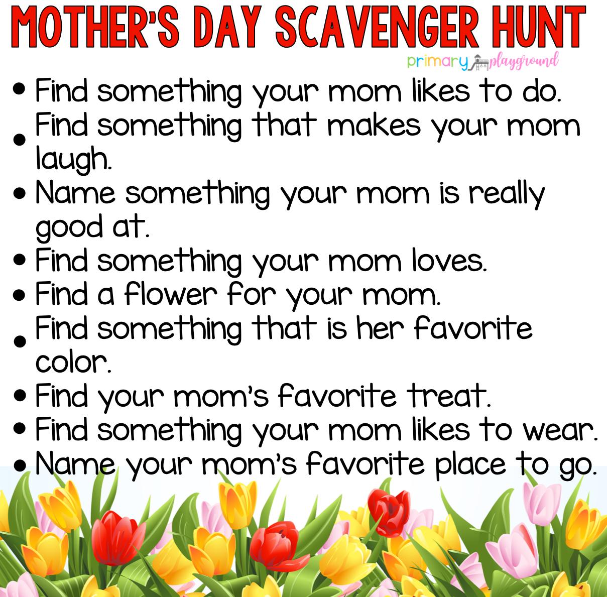 Mother's Day Scavenger Hunt