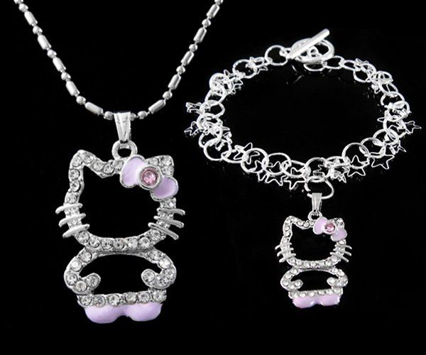 Hello jewelry kitty necklace