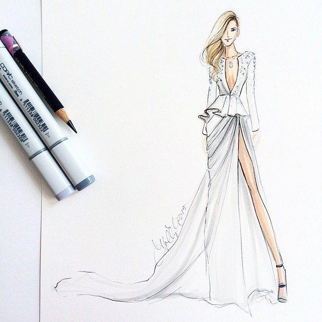 R sultat de recherche d 39 images pour instagram robe haute - Dessin de couture ...