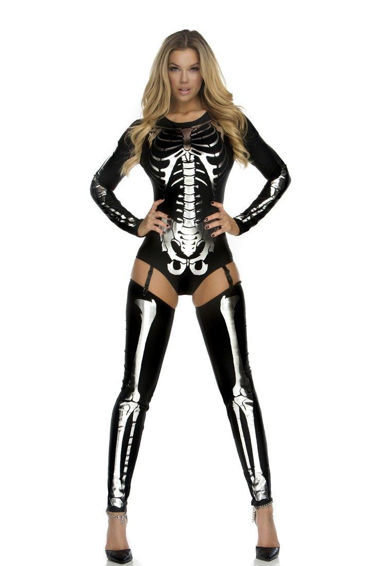 a68747434648c Snazzy Skeleton 3 Pc. Sexy Skeleton Costume