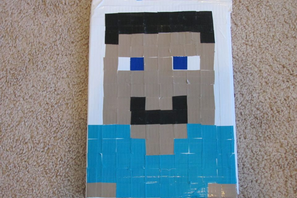 Duct Tape Minecraft steve book cover