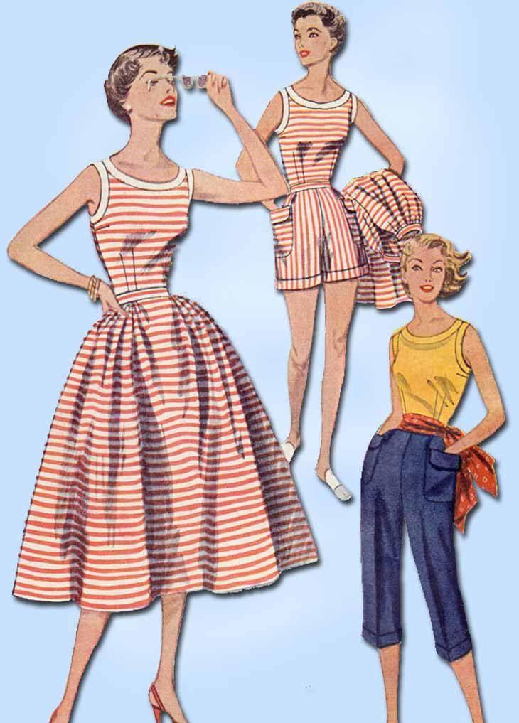 1950s Vintage Simplicity Sewing Pattern 4290 Uncut Misses Summer ...