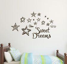 Stars Wall Decal Sweet Dreams Stickers Kids Nursery Sticker Decor DR12