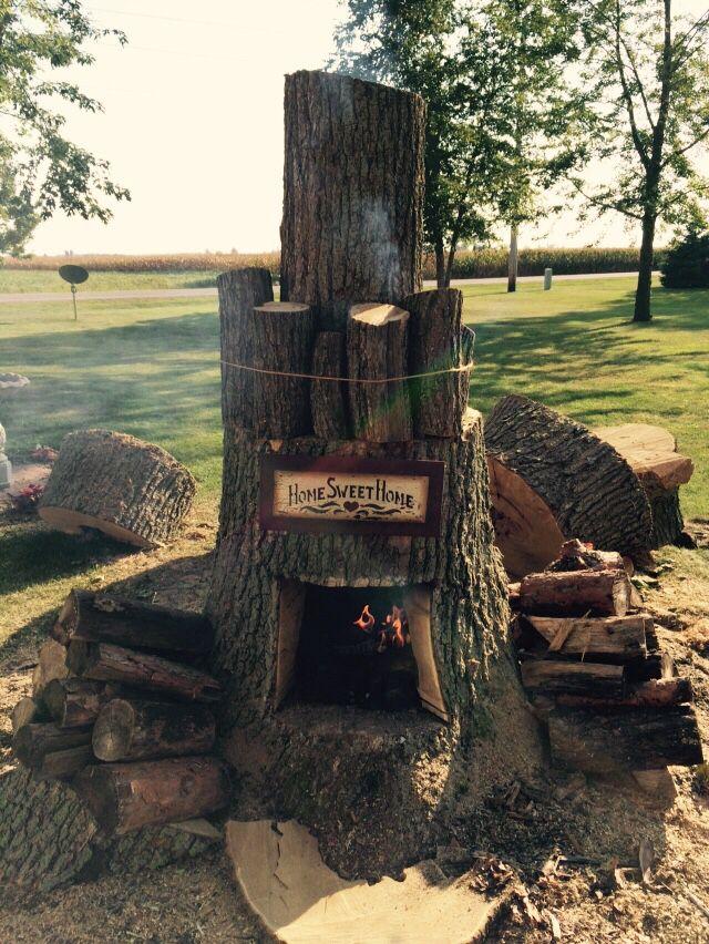 Redneck fireplace
