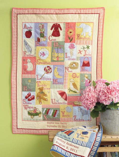 Alphabet quilt oh this is nice pinterest alphabet quilt alphabet quilt personalized baby giftspersonalized negle Image collections