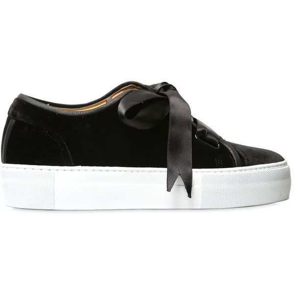 Etq.amsterdam Women 40mm Handmade Low 1 Velvet Sneakers ( 335) ❤ liked on  Polyvore featuring shoes d0fddf5add