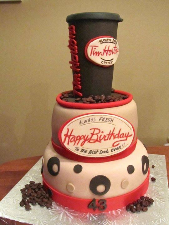 Tim Hortons Coffee Cup Cake 30 Th Party Pinterest Cup Cakes