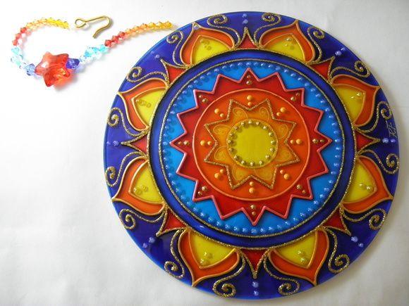 Mandala PROSPERIDADE Mandala Feita Em Vidro