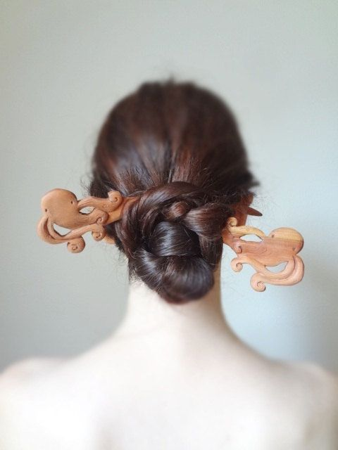 Magic in deep sea Steampunk double octopus hair от theancientmuse