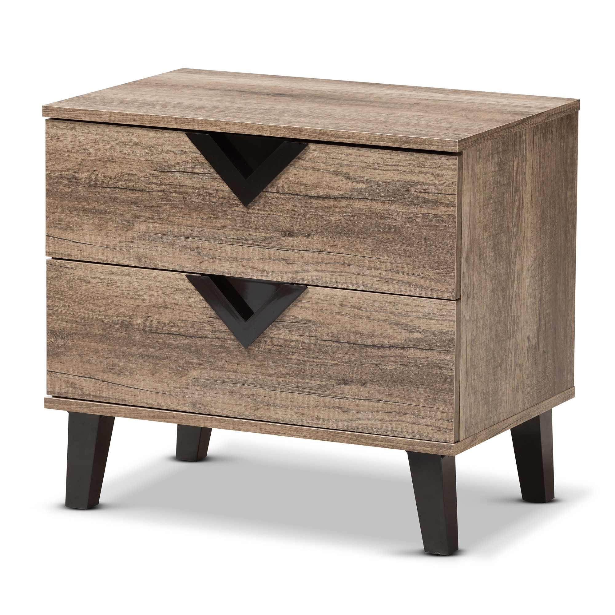Swanson Modern And Contemporary Wood 2  Drawer Nightstand
