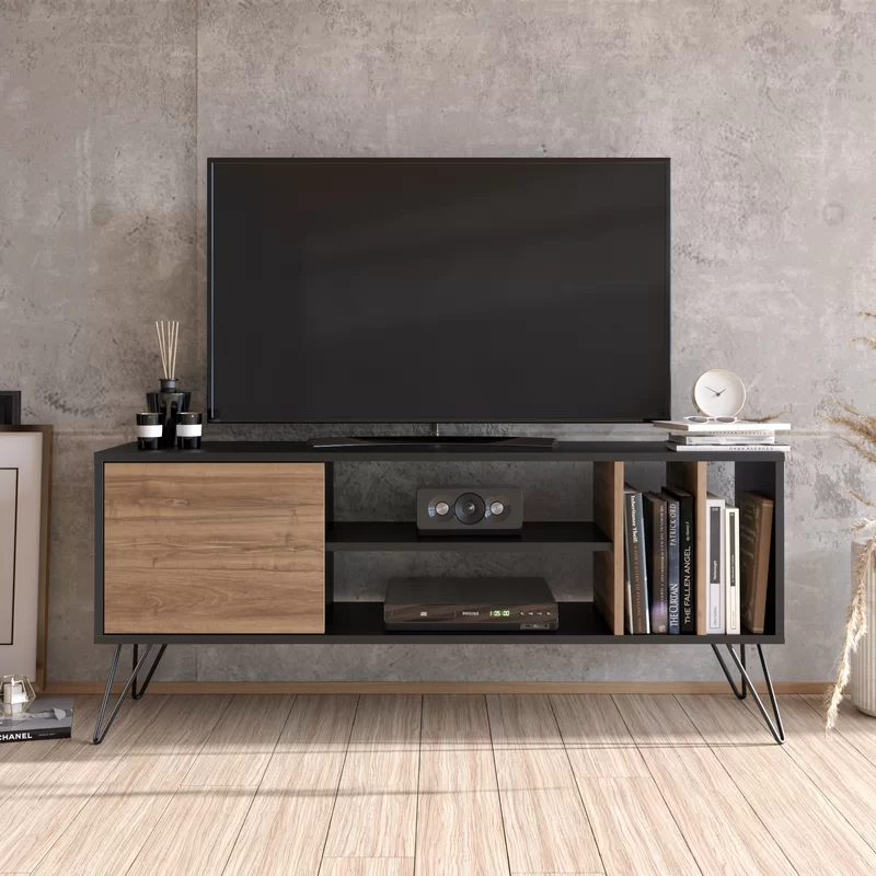 Umaima Tv Stand For Tvs Up To 60 In 2021 Tv Unit Media Console Tv Stand