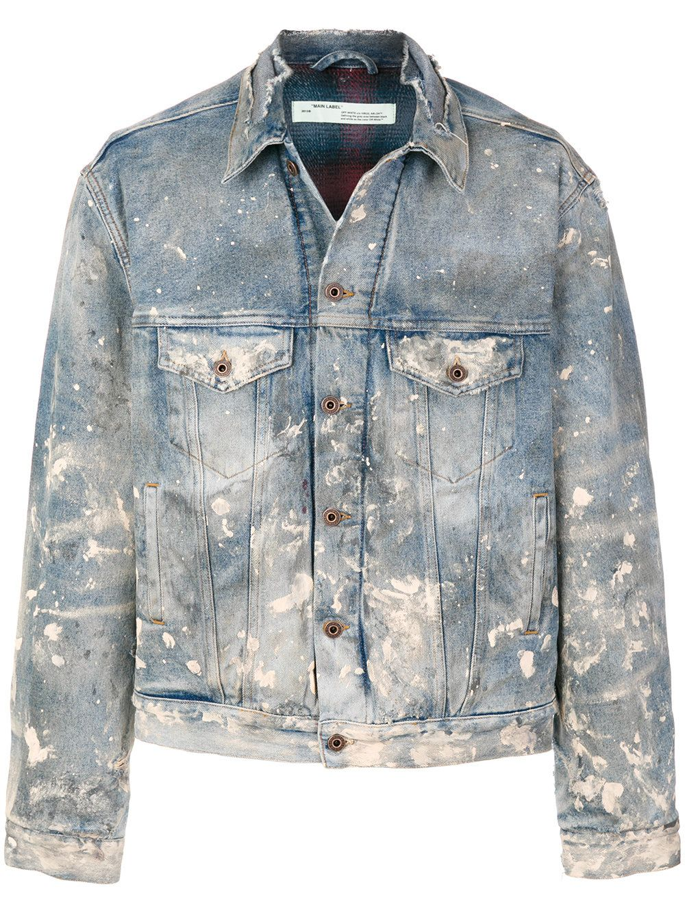 e4db5267304 Off-White distressed denim jacket