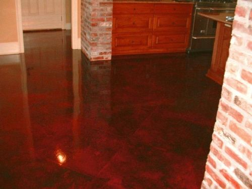 red stained concrete floors | Acid Stained Concrete Floors ...