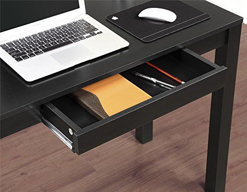 Altra Parsons Study Desk With Drawer Black Finish Http Www Furnitures