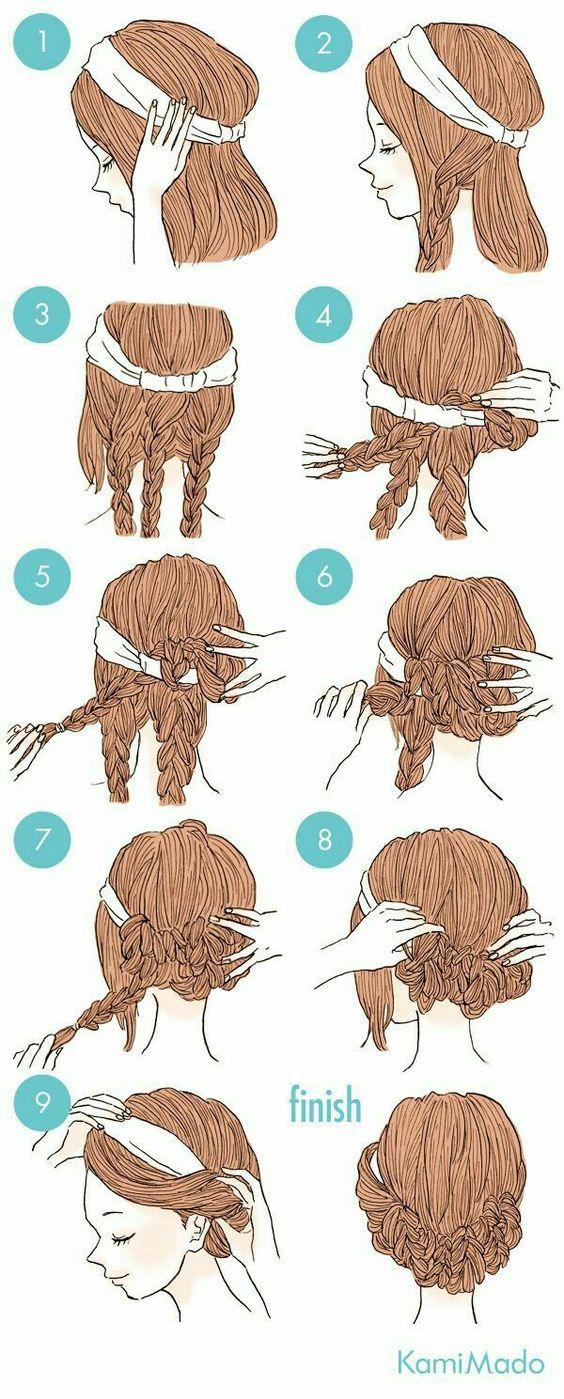 The plaits make this so much easier for long hair fashionhair