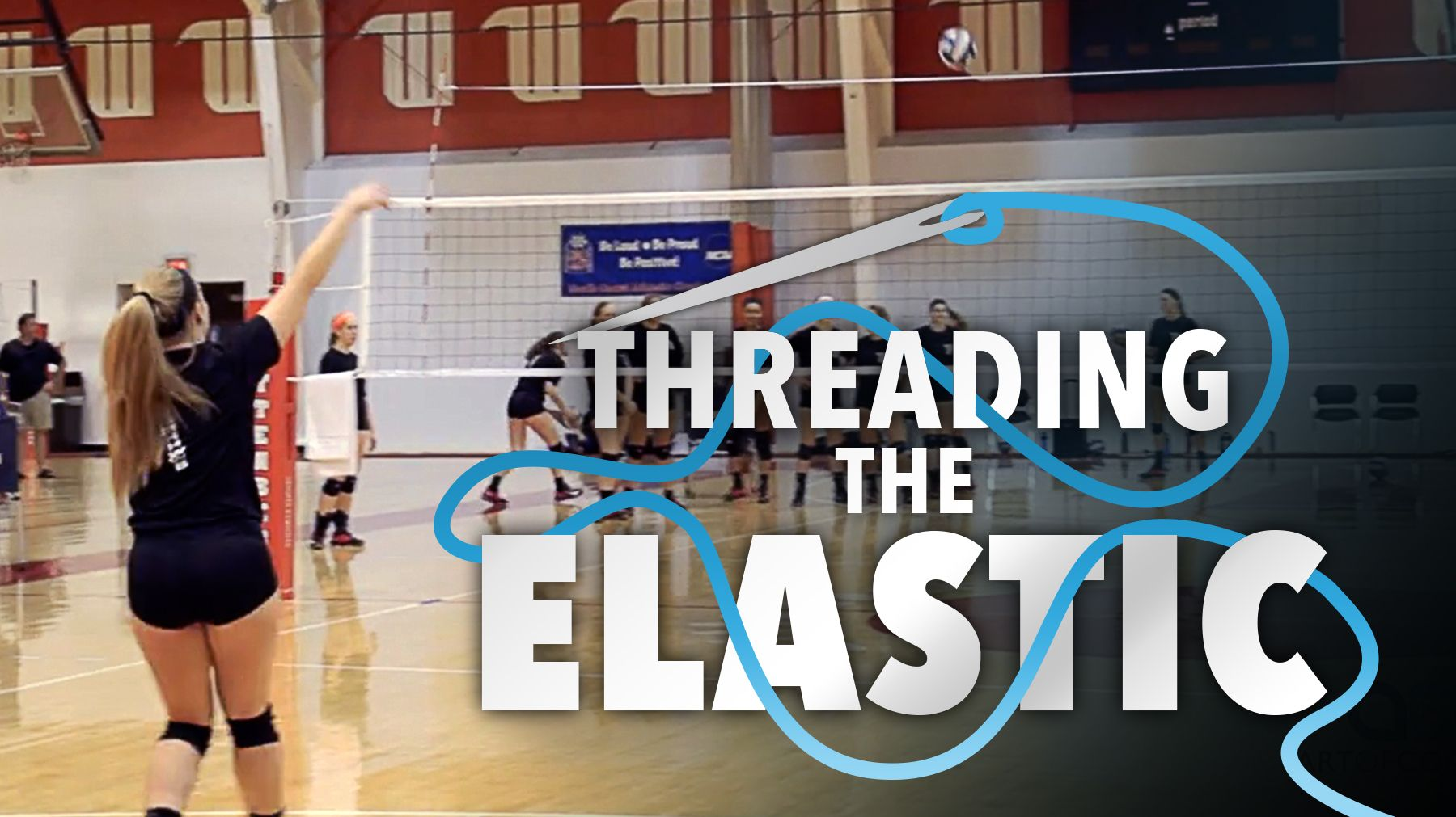 Threading The Elastic Drill To Train Flat Jump Float Serves Coaching Volleyball Volleyball Serving Drills Volleyball Serve