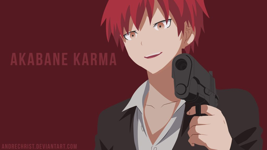 Akabane Karma By Andrechrist On Deviantart Anime Canvas Anime Computer Wallpaper Anime