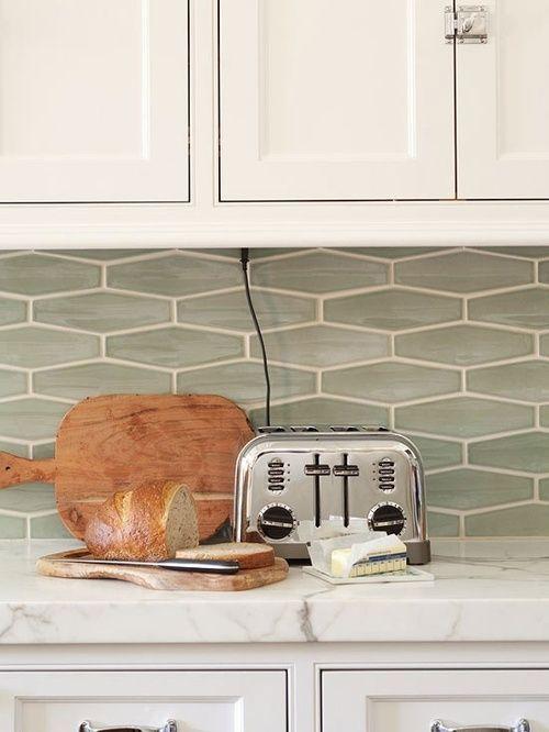 Wide Hex Tile Used As A Kitchen Backsplash Subway Tile Alternative Hexagon Tile Backsplash Tiles Kitchen Remodel