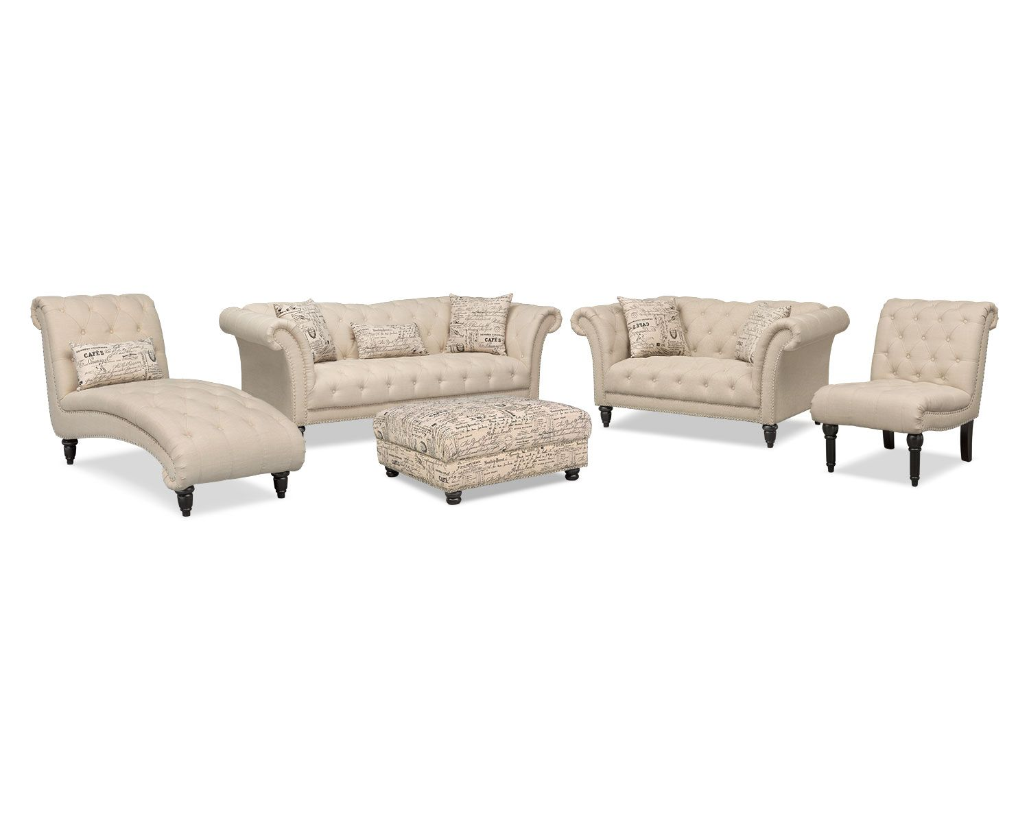 The Marisol Collection - Beige | Value City Furniture | office ...