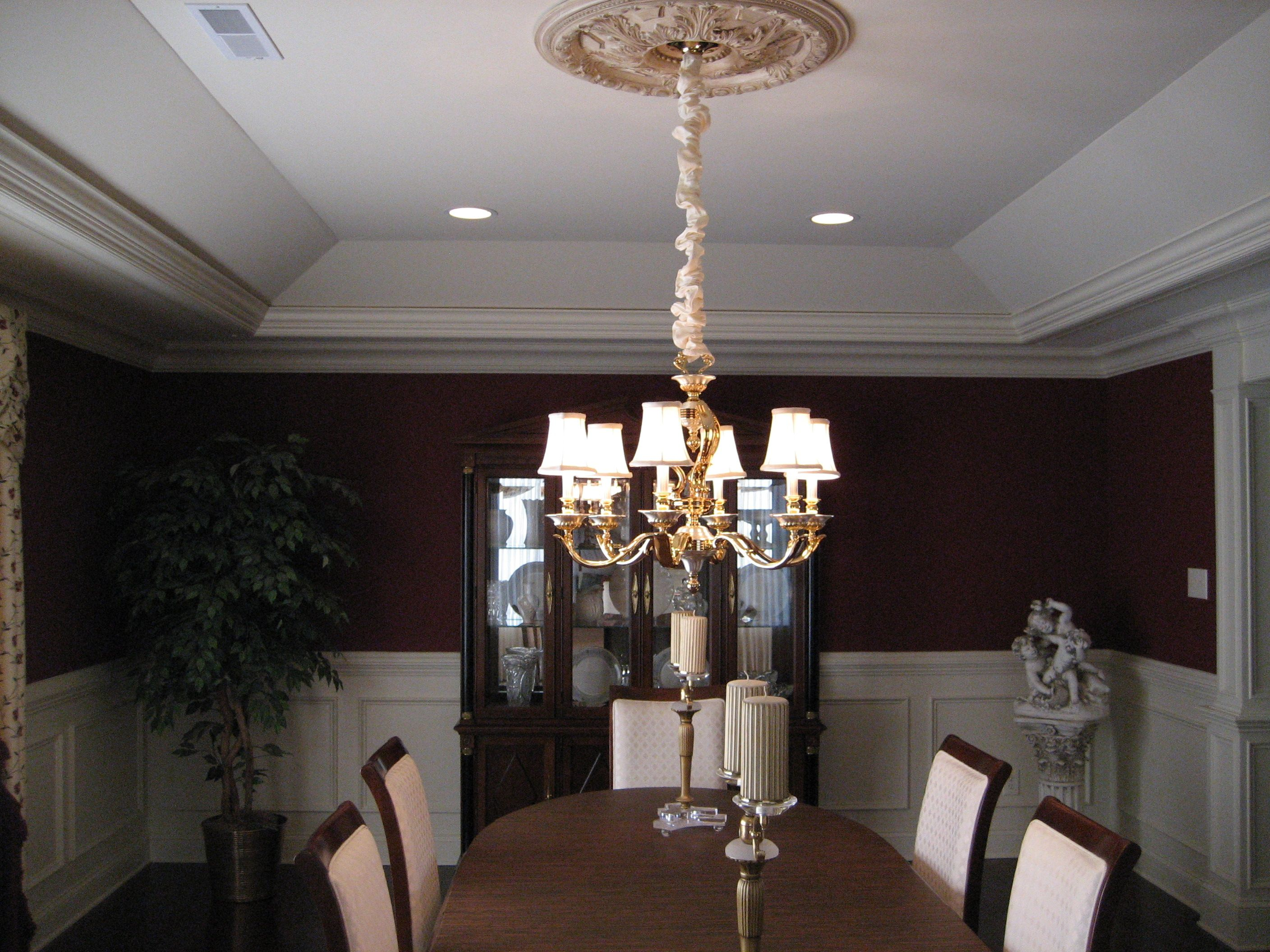 Tray Ceiling Kitchen Lighting Home Decor Master Bedroom