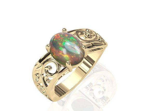 2.82ct Solid Boulder Opal Winton Natural Untreated Loose Opal Piece SKU 2082L005
