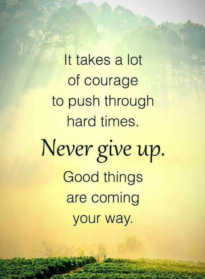 never give up quotes it takes a lot of courage to push through