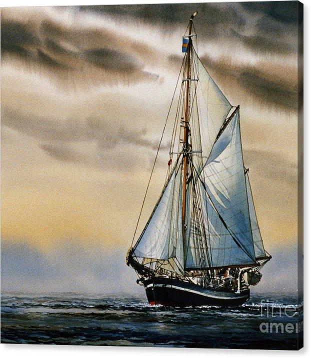 Sailing Vessel Seute Deern Canvas Print Canvas Art By James Williamson In 2020 Watercolor Boat Sailing Vessel Sailing