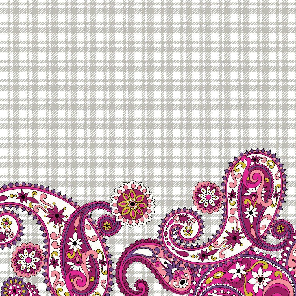 Vera Bradley wallpaper Paisley Meets Plaid | Vera Bradley Wallpaper ...