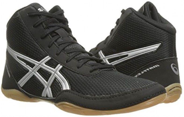 Men s Wrestling Shoe ASICS Matflex 5 Black Silver 6.5 M US   MensWrestlingShoe 4f3b02d83