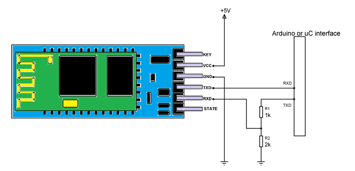 Hc 06 Bluetooth Module With Arduino Circuit Arduino Arduino Circuit Bluetooth