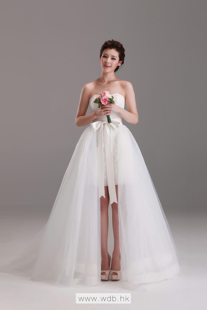 detachable wedding skirt only