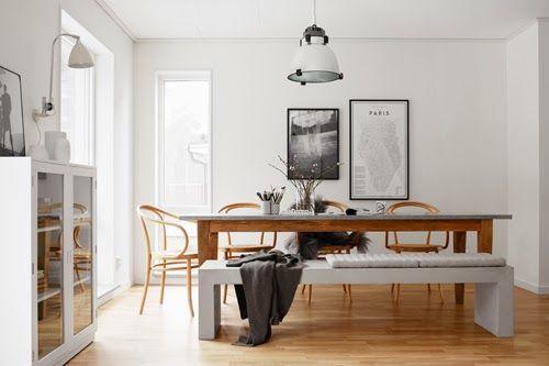Home Tour Intérieur Suédois Un Appartement Très élégant Salle à - Table salle a manger en palette pour idees de deco de cuisine