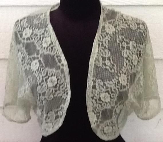 Variety of lace bolero shrug jackets from the free pattern at So Sew ...