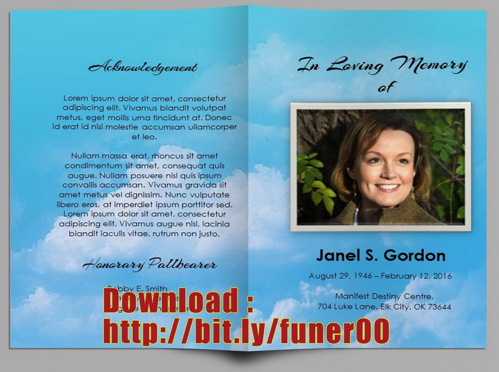 Free Funeral Program Template Microsoft Office Funeral Programs - funeral programs templates free download